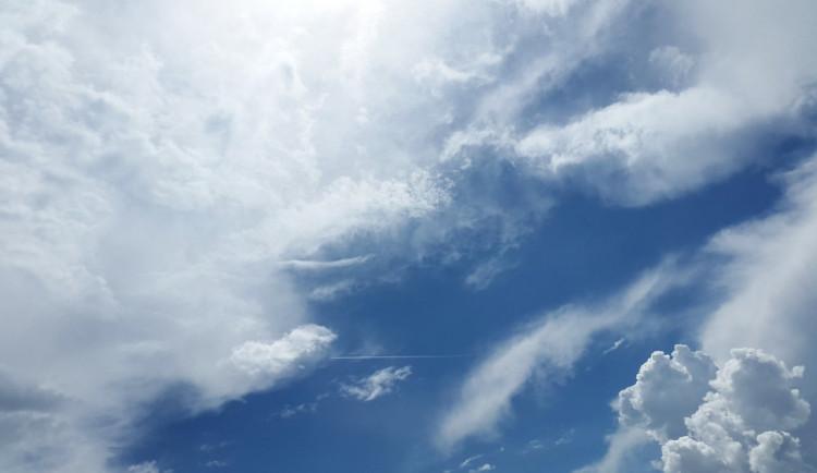 POČASÍ NA STŘEDU:  Mělo by být oblačno až polojasno, teploty kolem dvacítky