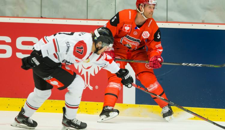 Hradečtí hokejisté podlehli v Lize mistrů těsným výsledkem Frölundě