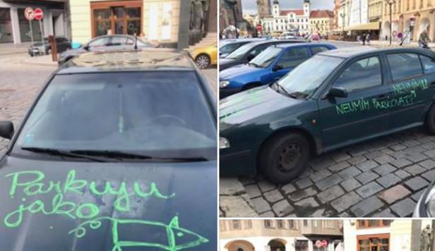 Žena se chlubila fotkou počmáraného auta, svým příspěvkem vyvolala bouři nevole