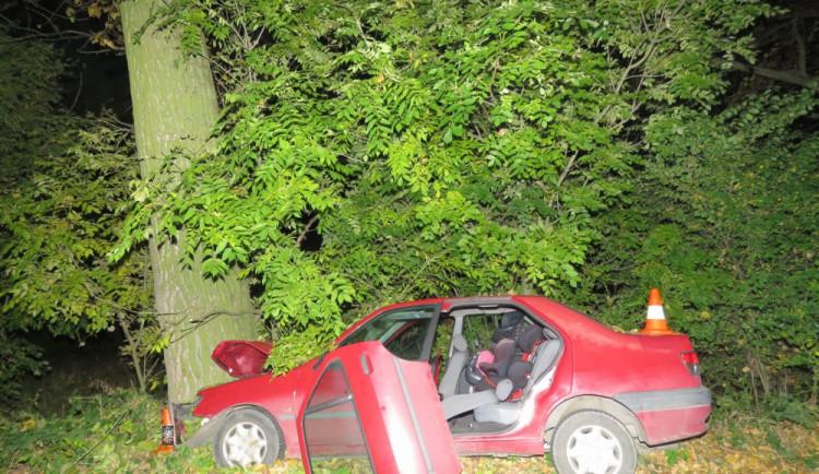 FOTO: Řidič, který na Rychnovsku narazil do stromu nehodu bohužel nepřežil