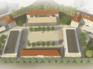 FOTOGALERIE: V Gayerových kasárnách vyrostou dvě nová náměstí, navážou na nový parkovací dům