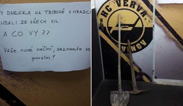 Hradec se stal jejich katem! Hokejisté Litvínova dostali od fanoušků lopaty, legenda Šlégr skončil