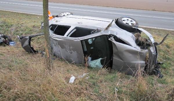 Muž vyvázl z dopravní nehody s vážným zraněním. V krvi měl více než jedno promile