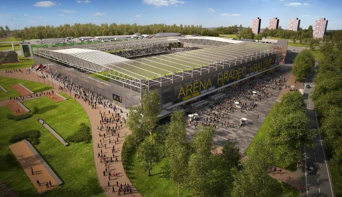 Fotbalový stadion v Hradci Králové musí vzniknout do konce roku 2022