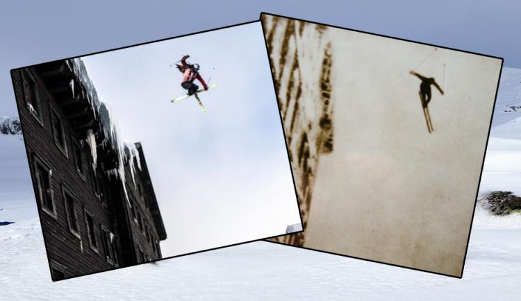 Akrobatický lyžař po 91 letech zopakoval legendární skok zLuční boudy
