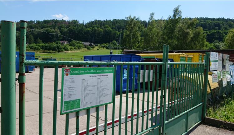 Technické služby ve Dvoře Králové otevírají po třech týdnech sběrný dvůr. Platit budou omezení