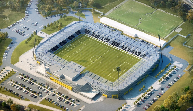 Stavba fotbalového stadionu v Hradci Králové se zkomplikovala. Firma na jeho správu odstoupila od zakázky