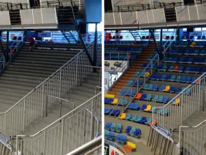 ČPP aréna Mountfieldu má nový sektor na sezení. Novinkou jsou i místa na přímo u hrací plochy