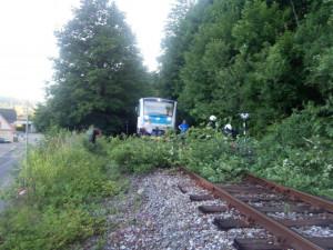 Kvůli silnému větru padaly v Královéhradeckém kraji stromy na silnice i na železnici