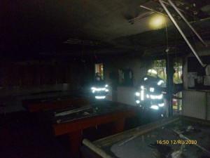 Ve fotbalových kabinách v Broumově vypukl požár, hasiči uchránili hodnoty za deset milionů korun