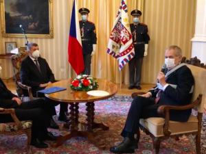Prezident Miloš Zeman jmenoval Jana Blatného do funkce ministra zdravotnictví