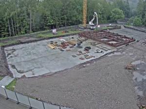 Časosběrné video zachytilo stavbu nového domova seniorů v Tmavém Dole