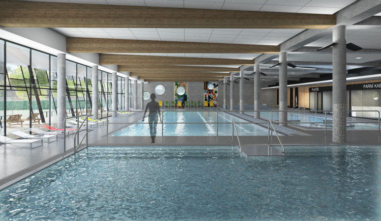 Vrchlabí bude mít do října příštího roku krytý bazén za 188 milionů korun