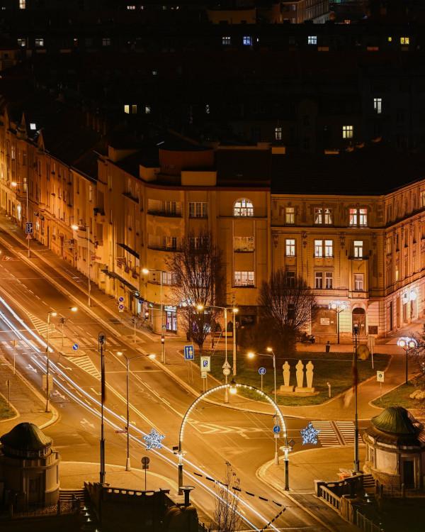 GALERIE: Vánočně osvícený Hradec Králové
