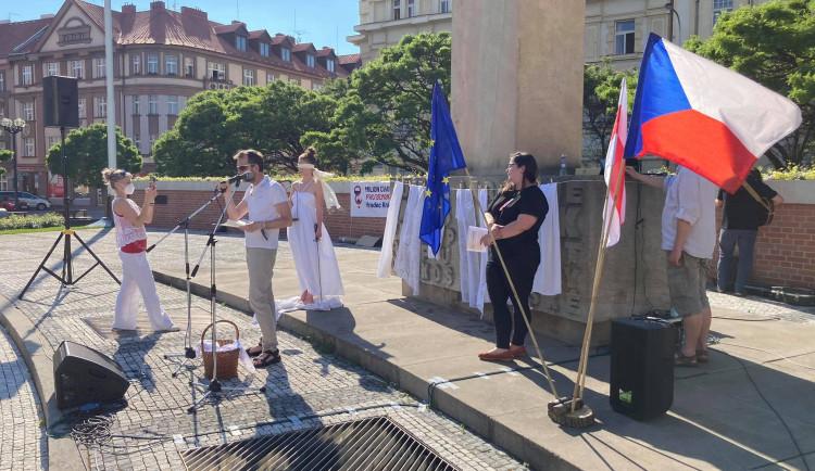 Demonstrace za nezávislost justice v Hradci Králové (8.6.2021)